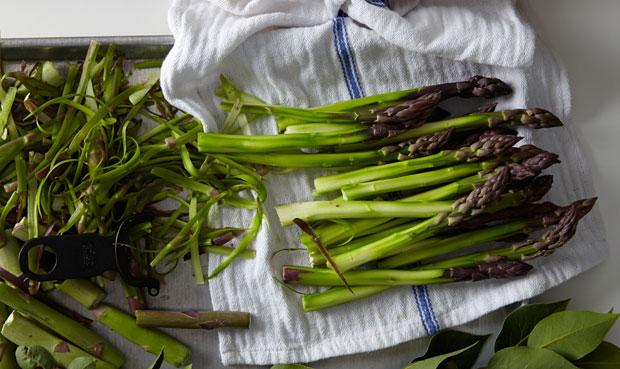 Fresh asparagus - SHED weekly menus
